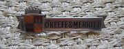 Vintage O'keefe And Merritt Stove Badge Chrome Trim Appliance Nameplate Old Rare