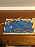 2 Melissa And Doug Handcrafted Wooden Puzzles 1 Sound Puzzle And Magnetic Fishing