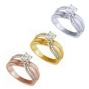 Round Cut Diamond 14k Gold Twist - Style Engagement Ring For Womenand039s 6963.08