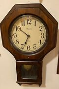 Linden Wall Clock, Battery Operated, Pendulum, For Parts Or Repair