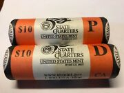 2005 P And D California State Quarters Us Mint Rolls