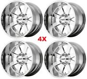 22x14 Chrome Wheels Rims Deep Lip Moto Metal Fuel Tis Arkon Hostile