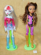 Monster High Dolls Abbey Bominable And Clawdeen Wolfe Both Music Festival 2013