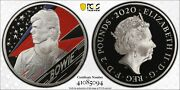 Great Britain Silver Proof Andpound2 David Bowie 1 Oz Pcgs Pr70dcam Coin