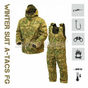 Russian Winter Suit Gorka -30anddeg Rip Stop A-tacs Fg Special Forces Fishing Hunting