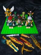 Lego Chima 70010 Lion Chi Temple Minifigure Lot Of 7 W/weapons Excellent Cond.