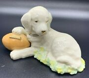 Lenox Touchdown Puppy Dog With Football Figurine