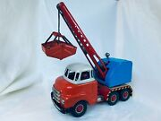 Arnold Bedford Excavator / Fuchs Digger Friction Truck Blech Auto Tin Toy Rare
