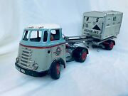 Arnold Daf Van Gend And Loos Truck Battery Lkw Blech Auto Tin Toy Truck Rare