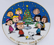 Danbury Mint Peanuts Snoopy Collectors Plate Merry Christmas Charlie Brown