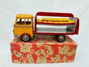Göso Coca Cola Truck Friction Blech Auto Tin Toy Truck Boxed Rare
