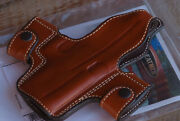 Ross Leather Holster Springfield Xdm9/40 Snap On Hammerhead Rh Brown 24s