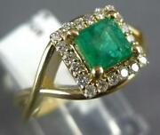 .84ct Diamond And Aaa Emerald 14kt Yellow Gold 3d Princess Halo Infinity Love Ring