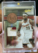 Lebron James 2009 Absolute Hero's Jersey Patch D 6/10 Rare 1/1 Non Auto Jersey