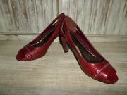 Anti Gravity Easy Spirit Shoes Red Sandals Size 9
