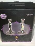 Disney Rare Nightmare Before Christmas Candle Holders Jack And Sally Open Box