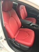 2018 2019 2020 2021 Toyota Camry Le / Se Katzkin Red Leather Seat Covers 4