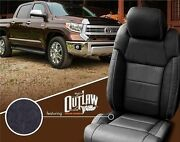 New Toyota Tundra Katzkin Outlaw Black Leather Seat Covers Crewmax Or Double Cab