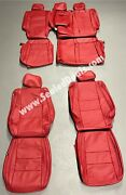 Jeep Grand Cherokee Limited Overland Katzkin Red Leather Seat Replacement Covers