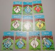 1950's Era Built Rite Toy Baseball Card Game Lot Of 10 Cards