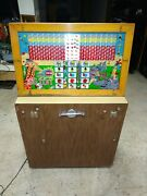 Rare Old Keeneyand039s Twin Big Tent Coin Op Slot Machine Arcade Game - Free Shipping