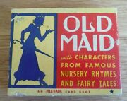 Vintage Old Maid Card Game 2 Complete Full Sets In Box - Please See Pictures
