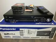 Never Used Panasonic Dmr-ez48v Dvd Recorder With Hdmi +2 Vhs Tapes Cables Remote