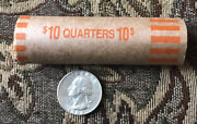 Full Roll Of 40 Washington Quarters - 1964 - Silver - F To Vf Condition