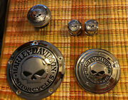 2002 Harley Davidson Sportster Gas Cap Axle Covers Derby Cover And Primary Cover