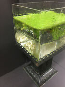 Vintage Aquarium Fishbowl And Stand Arts And Crafts Relpaw Germany Battery Case