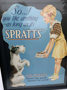 Vintage 1920and039s Dog Food Advertising Sprattand039s Veterinary - Great Image Of Girl W