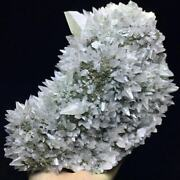 2625g Translucent Gray Dog Tooth Calcite Crystal And Pyrite Mineral Specimen/china