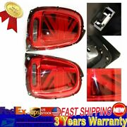 For 2014-2018 Mini Cooper F55 F56 F57 Led Union Jack Taillights Red