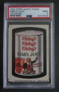 1974 Topps Wacky Packages Fibbys Fibby's 7th Series 7 Psa 9 Mint