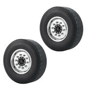 2pcs/set Front Wheel Rims And Tyres Set For Tamiya 114 Scale Rc Tractor Truck
