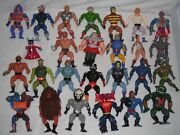 The Masters Of The Universe 1980' Vintage Action Figure Toy Lot Of 26 By Mattel