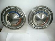1962 1963 Falcon Futura Stainless Steel 13 Wheel Covers