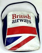 Vtg 70s 80s British Airways Airline Bag Carry On Cabin Crew Travel Distressed