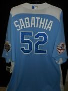 C.c. Sabathia Signed 2012 All Star Jersey Authentic Majestic- N.y. Yankees-rare