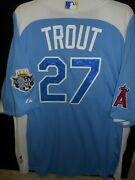 Mike Trout Signed 2012 All Star Jersey Authentic Majestic-l.a. Angels Of Anaheim