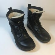 Birkenstock Sz 37 Gilford High Black Leather Womens Lace-up Boots   B28