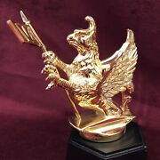 Franklin Mint In 1987 24kt Gold-plated Bronze Hood Ornament By Vauxhall Motors.