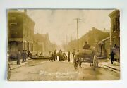 Vintage Rppc 6th.st.from German St. View Of Newport Ky.1884 Flood-scarce Photo