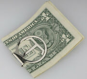 Sterling Silver And Co T Money Clip Engraved And039gmgand039 19.6 Grams