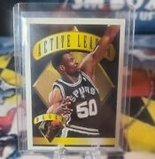 David Robinson 1995 Topps Active Leaders Front /back Gold Stamp Error Mckie