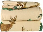 Am Home Fashion Piece 100 Soft Flannel Cotton Bed Sheet Set Andndash Queen/king Size Andndash