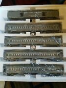 New Williams O Gauge 2503 Crown Edition Nyc Two Tone Gray Madison 5 Car Set