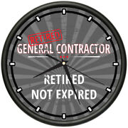 Retired General Contractor Design Wall Clock Retired Not Expired Retirement Gift