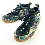New Nike Air Foamposite Pro Prm Le Army Green Camo 587547-300 Andbull Size 10.5