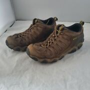 Oboz Mens Size 12 Hiking Boots Brown Leather Lace Up Low Top